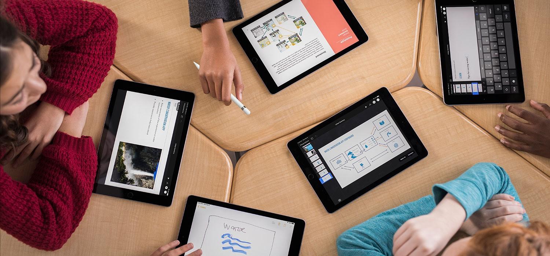 Elternfinanzierung Schüler mit Tablet in Klasse